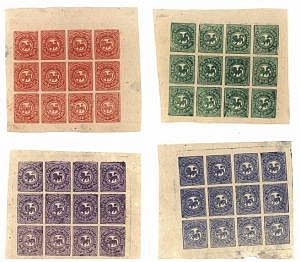 Tibet Stamps-Original Sheets 1912 Issue